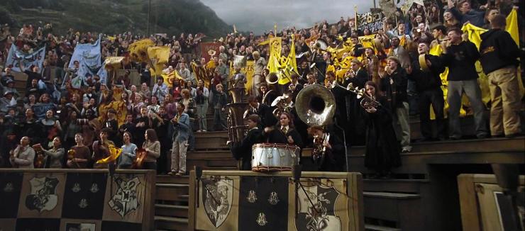 La música se convierte en épica en el emocionante partido de Quidditch