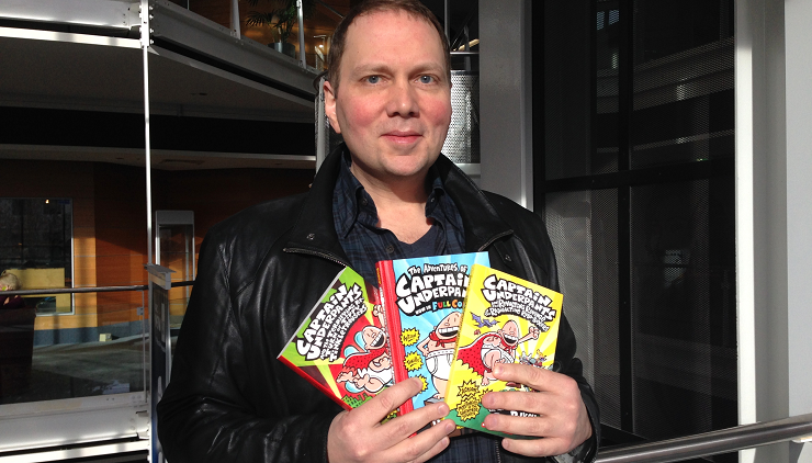 """Dav Pilkey, ilustrador y autor de los libros originales del """"Capitán Calzoncillos""""."""