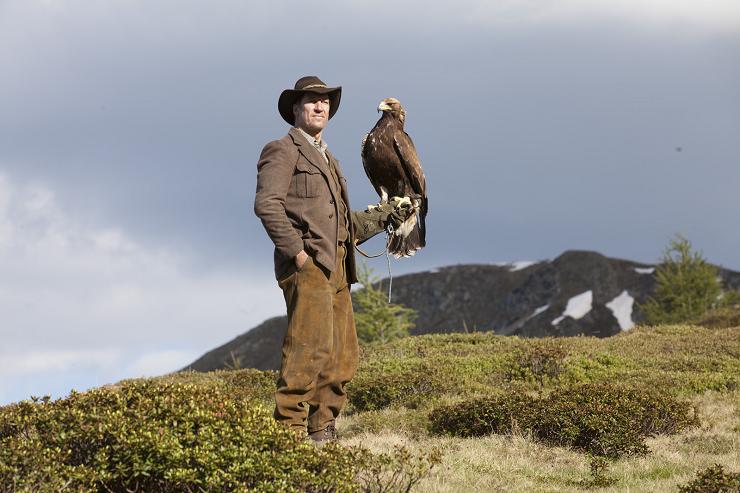 Hasta 17 águilas fueron utilizadas para filmar sus complejas escenas.