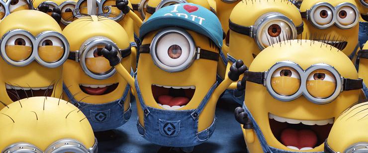 Los Minions protagonizaran algunos de los momentos más delirantes del nuevo film.