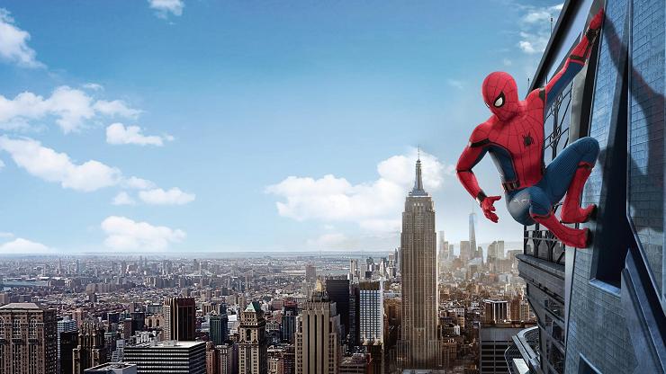 Spider-Man siempre vigilante en la ciudad de Nueva York.