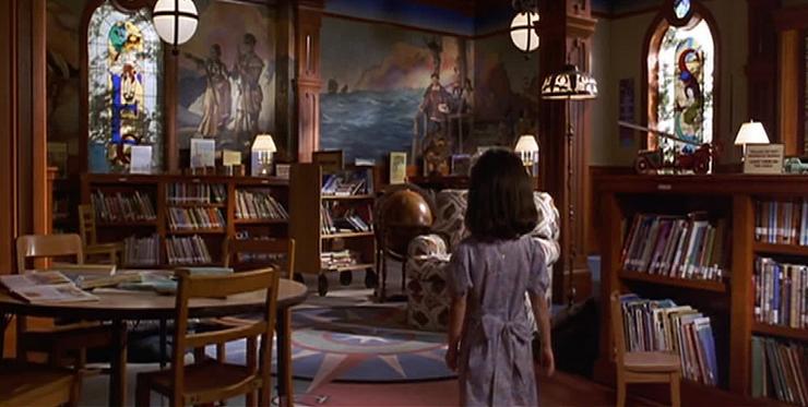 Matilda encuentra en la biblioteca su mejor vía de escape.