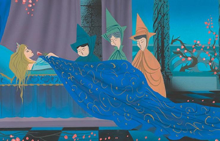 """Diseño conceptual original de """"La bella durmiente"""" (1959)"""