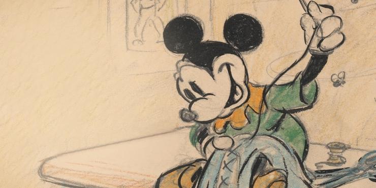 Mickey Mouse no puede faltar en esta exposición dedicada al universo Disney.
