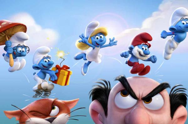 Pinta tu mundo de azul con Los Pitufos