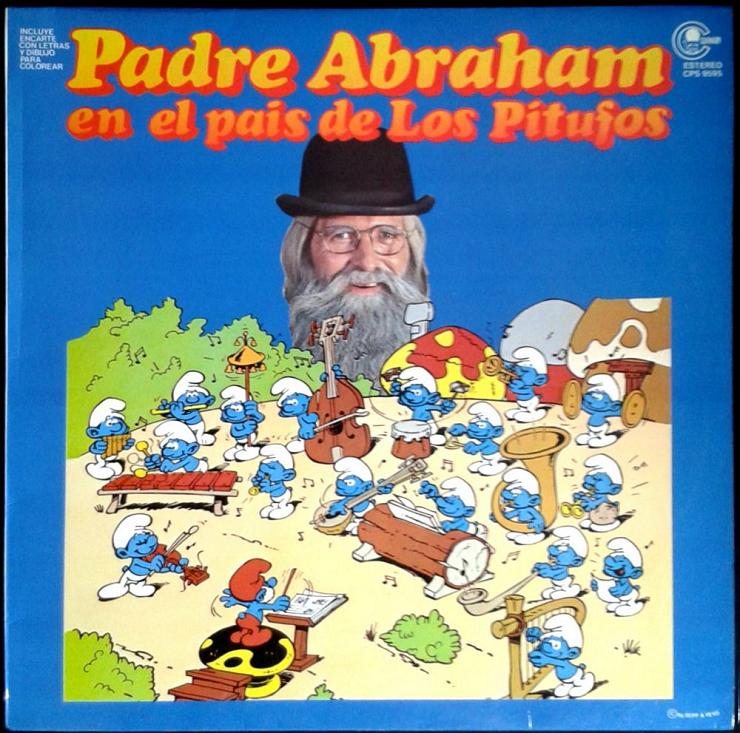 El primer álbum discográfico del Padre Abraham cantando con Los Pitufos.