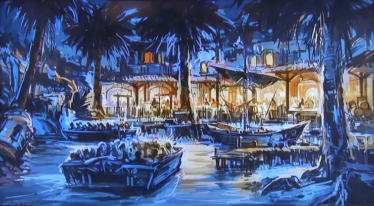 Bocetos originales de la atracción de Disneyland en Anaheim