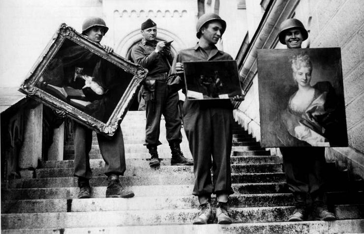 Los llamados Monuments Men salvaron numerosas obras de arte expoliadas en Francia.