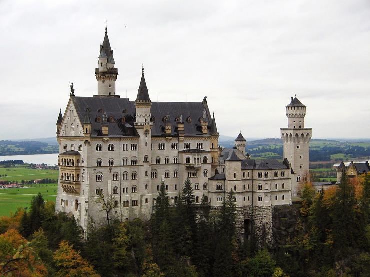 El Castillo de Neuschwanstein es el más fotografiado en Alemania.
