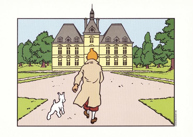 El Castillo de Moulinsart es el punto de arranque de muchas de las aventuras de Tintín.