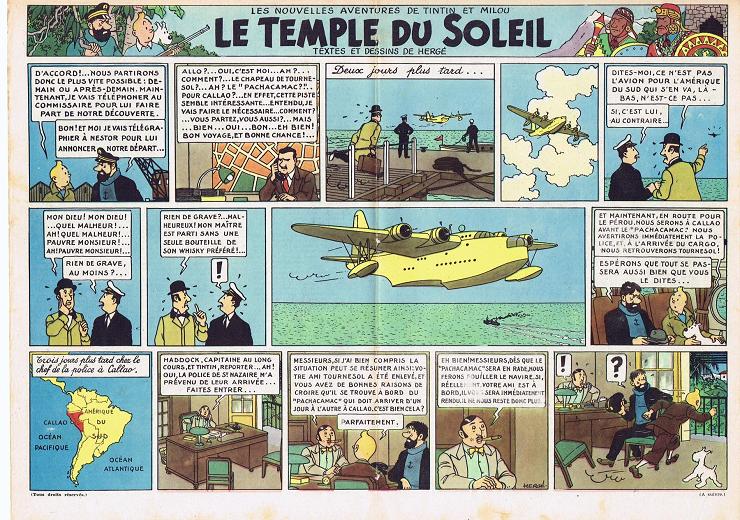 El Templo del Sol es una de las aventuras más espectaculares de Hergé.