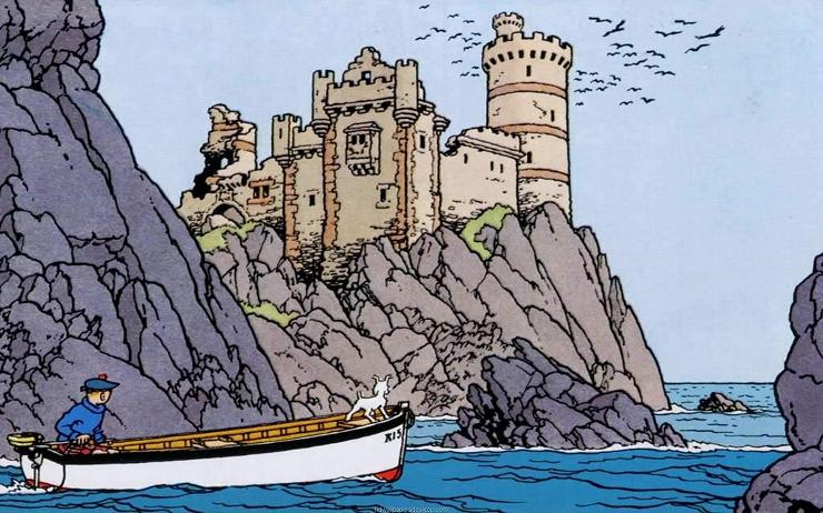 La Isla Negra es uno de los comics más célebres de Hergé.