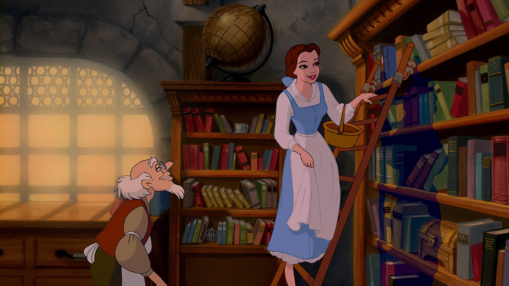 bella-y-bestia-disney-biblioteca