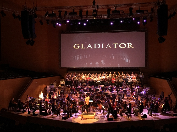 """La OBC durante el concierto/proyección de """"Gladiator"""" nos hizo viajar al corazón del Imperio Romano."""