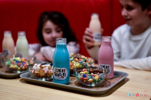 Merendar con niños en Cereal Hunters Café, la primera cafetería de cereales de España