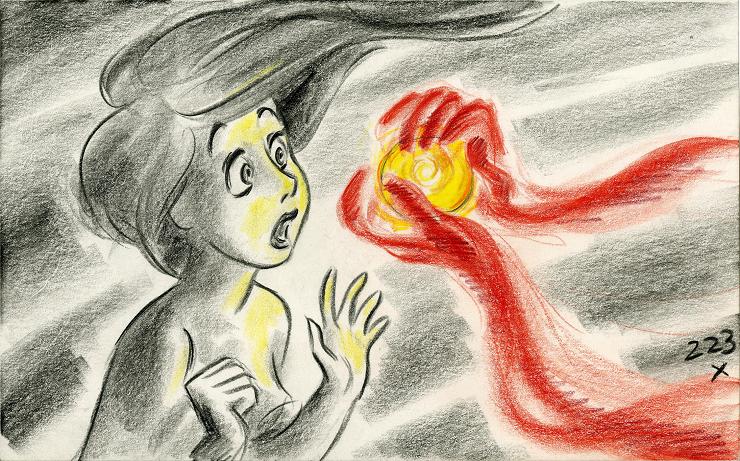 "Boceto original de la película ""La Sirenita"" (1989)"