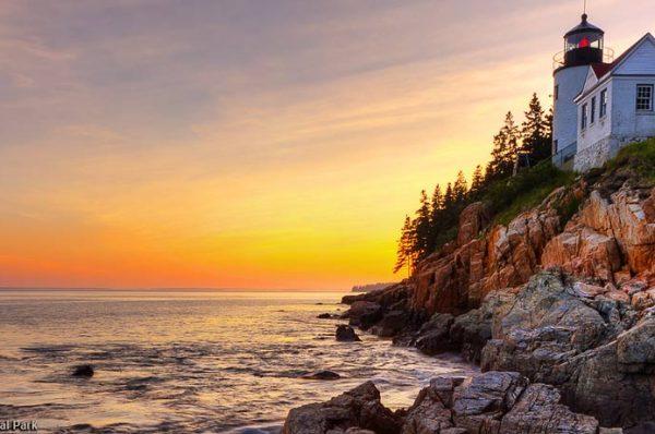 Las luces de la costa de Maine