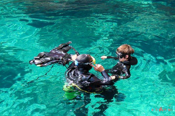 Bautizo de submarinismo en familia en L'Estartit en las Islas Medes